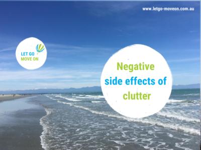 Negative side effects of clutter